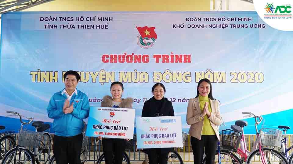 ADC hỗ trợ khắc phục bão lụt cho trường mầm non xã Quảng Phước, Quảng Điền